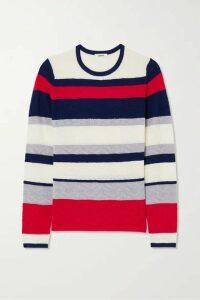 Jason Wu - Striped Pointelle-knit Wool Sweater - Navy