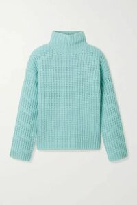 Vince - Ribbed-knit Turtleneck Sweater - Blue