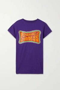 Marika Vera - Printed Cotton-jersey T-shirt - Purple
