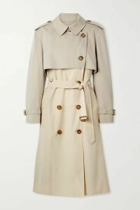 Burberry - Deighton Layered Two-tone Cotton-gabardine Trench Coat - Beige