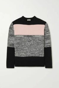 Jason Wu - Color-block Wool-blend Sweater - Gray