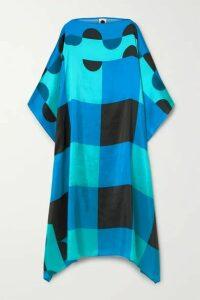 Louisa Parris - Sargent Silk-dupioni Dress - Azure