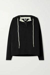 Bassike - + Net Sustain Organic Cotton-jersey Hoodie - Black