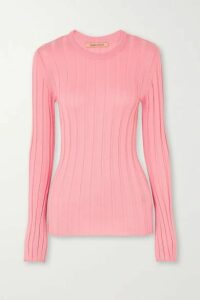 Maggie Marilyn - + Net Sustain The Sherbet Wool-blend Ribbed-knit Sweater - Pink
