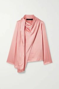 Sally LaPointe - Draped Satin-crepe Top - Blush
