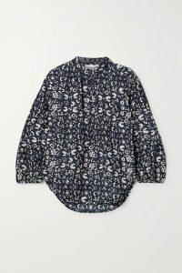 APIECE APART - Bravo Floral-print Silk Blouse - Navy