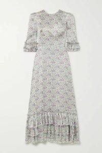 The Vampire's Wife - Cinderella Ruffled Floral-print Silk-satin Maxi Dress - Purple
