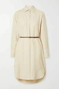 The Row - Sonia Belted Striped Jacquard Dress - Pastel yellow