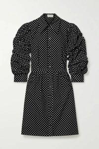 Michael Kors Collection - Polka-dot Cotton-poplin Mini Dress - Black