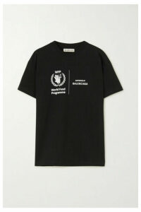 Balenciaga - + World Food Programme Printed Cotton-jersey T-shirt - Black