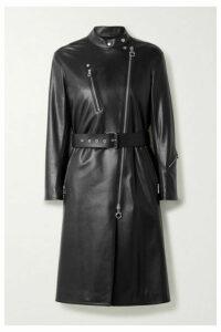 Salvatore Ferragamo - Belted Leather Coat - Black