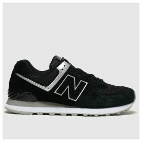 New Balance Black & Silver 574 V2 Trainers