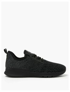 GOODMOVE Lace Up Knitted Trainers