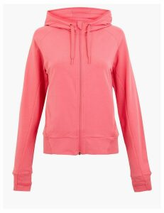 GOODMOVE Cotton Rich Zip Through Hoodie