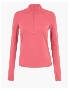 GOODMOVE Half Zip Run Top