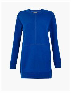 GOODMOVE Cotton Rich Longline Sweatshirt