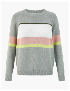 GOODMOVE Pure Cotton Relaxed Jumper