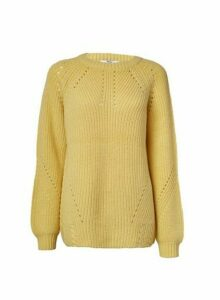Womens **Tall Yellow Lead In Stitch Jumper- Orange, Orange