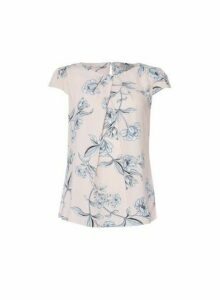 Womens Billie & Blossom Blush Floral Print Shell Top - Pink, Pink
