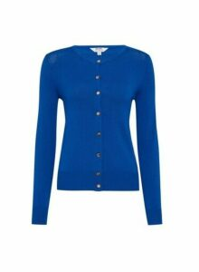 Womens Petite Cobalt Button Cardigan, Cobalt