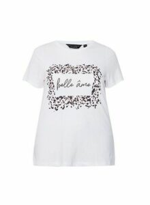 Womens Dp Curve White Printed T-Shirt - Ivory, Ivory