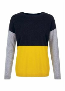 Sofia Wool Blend Sweater Yellow Multi