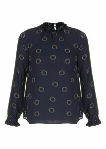 Clarice Blouse Navy Black