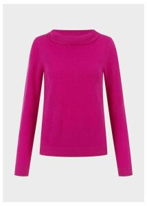Audrey Wool Cashmere Sweater Purple