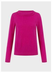 Audrey Wool Cashmere Sweater Purple