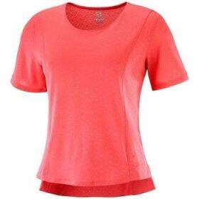 Salomon  Elevate Aero Tee  women's T shirt in Red