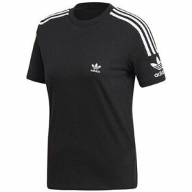 adidas  Lock UP Tee  women's T shirt in Black