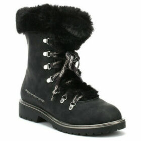 Fornarina  Mik Fur Womens Black Boots  women's Snow boots in Black