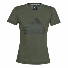 adidas  W MH BOS TEE  women's T shirt in Black