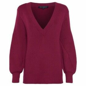 French Connection  Sweater wide neckline V  women's Blouse in Red