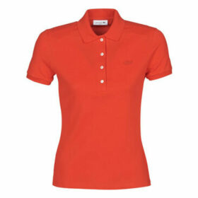 Lacoste  PH5462 SLIM  women's Polo shirt in Red