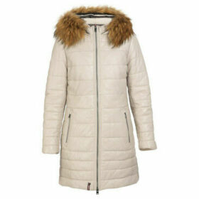 Oakwood  MARIA long leather down jacket  women's Coat in Beige