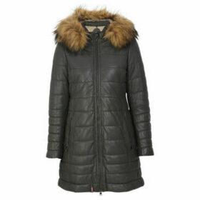 Oakwood  MARIA long leather down jacket  women's Coat in Green