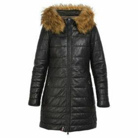Oakwood  MARIA long leather down jacket  women's Coat in Black