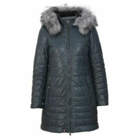 Oakwood  MARIA long leather down jacket  women's Coat in Blue