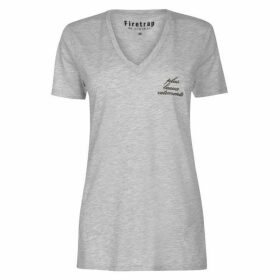 Firetrap Blackseal Loose V Neck T Shirt