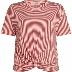 All Saints Carme Stripe Cropped Tee