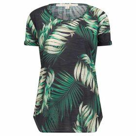 Nougat Birch Leaf Print T Shirt