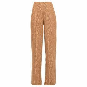 La Fiancé Du Mékong  Wide and fluid pants  women's Trousers in Brown