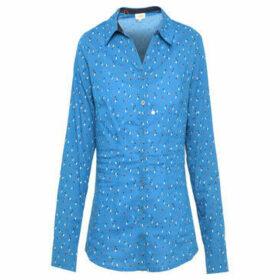 La Fiancé Du Mékong  Slim fit blouse  women's Shirt in Blue