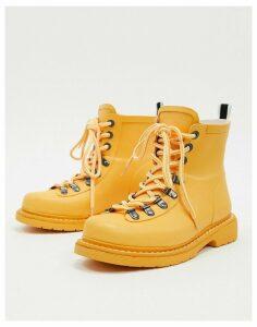 Vero Moda lace up hiking boots-Yellow
