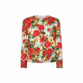 LK Bennett Tissie Floral Print Cardigan