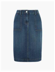 M&S Collection Denim Utility Midi Skirt