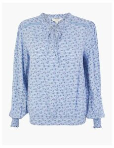 Per Una Printed Bubble Hem Blouse
