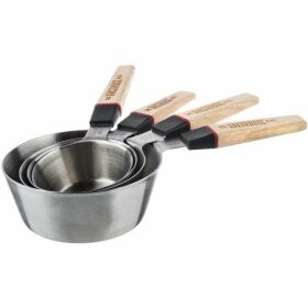 Bakehouse Stainless Steel 4 Piece Measuring Cup Set