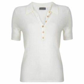 Mint Velvet Ivory Polo Knit